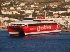 Highspeed 3 moored in Paros island