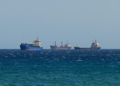SHIPS IN KARYSTOS BAY