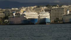 Marina laid up @ piraeus, moved to port by strong winds