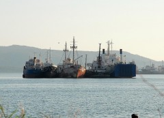 SHIPS IN ELEFSINA BAY