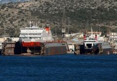 Dionysios Solomos & Apollon Hellas @ On drydock