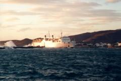 Naias II entering Tinos port