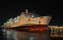 Kriti II leaving Piraeus port.