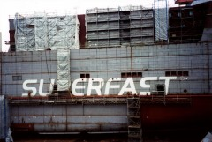 Superfast X during construction