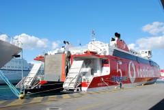 Highspeed 5 resting in Piraeus