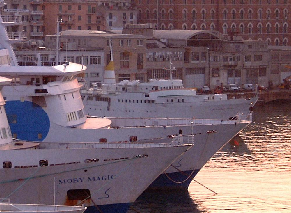 ships laid up@ genova