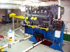 Enzo D engine room