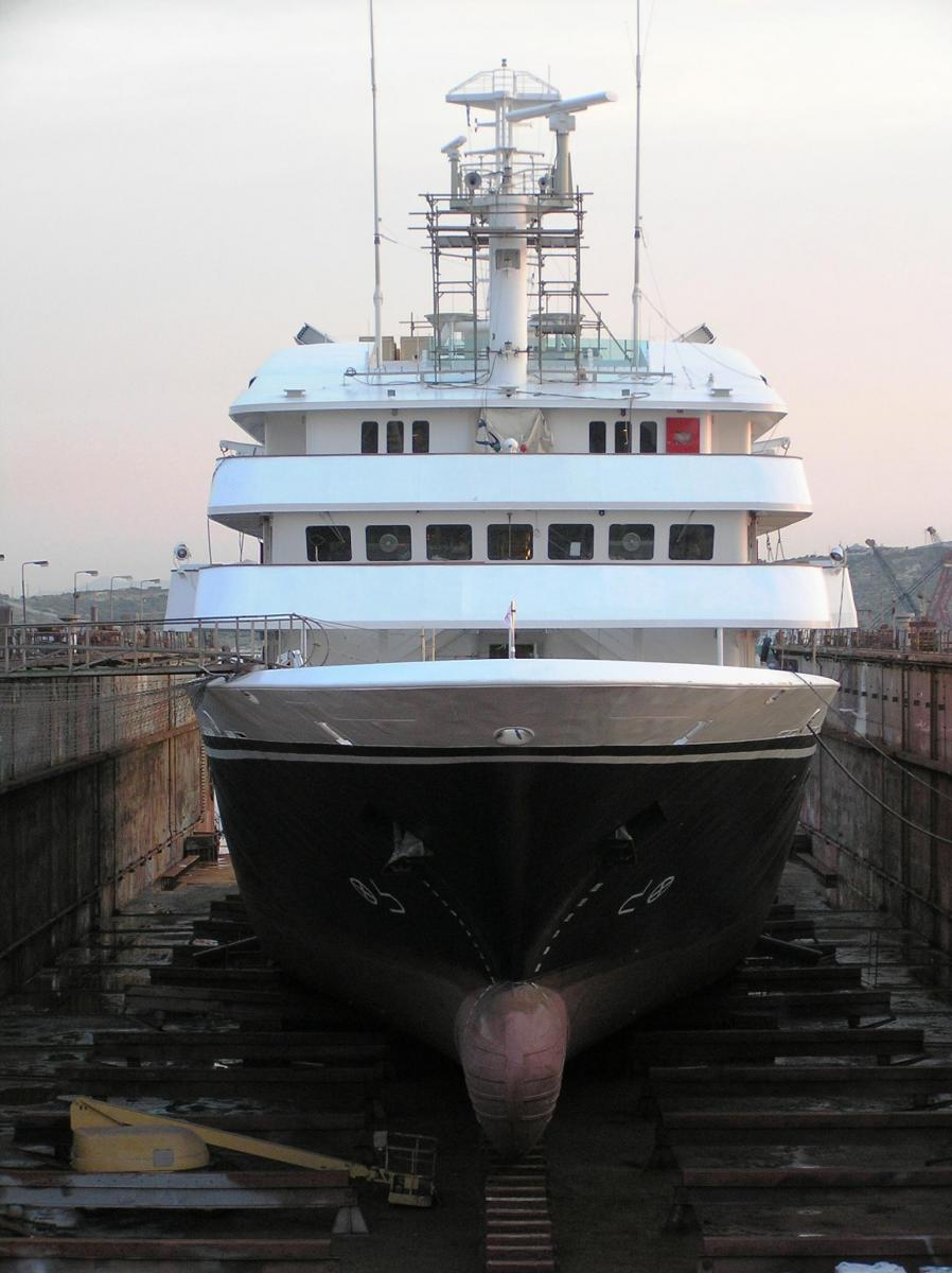 Expedition ship Clelia II operating from Ushuaia, Argentina to the  Antarctic Peninsula in Antarctica,