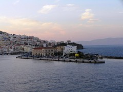 Cruise Terminl in port of Syros