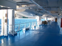 Cruise Europa - Deck under rescue boats