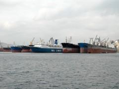 SHIPS IN PERAMA REPAIRING ZONE