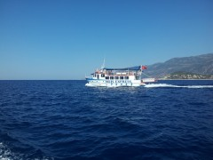 Meis Express sailing from Kas, TK, 6 8 2012