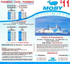 Moby Lines Elba brochure 2011