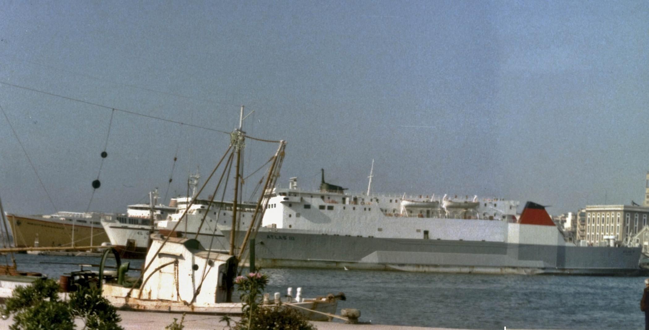 Patras port  in 1985