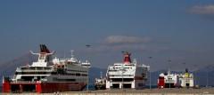 superfastXII, aegean tiffany, cruise europa, superfastII and sophoclesV@ patra south port 170212