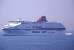 cruise europa @ patras gulf eastbound 150711