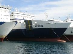 Ariadne at Perama repairs dock