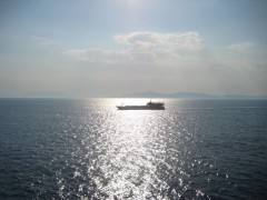 Melina II crossing Saronicos, noon 3 8 2011
