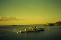 HMS Campbeltown and Queen Elizabeth 2