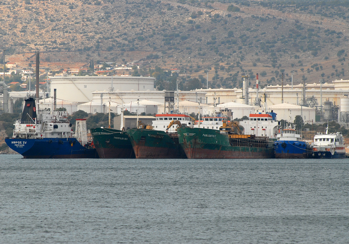 Ships in Elefsina