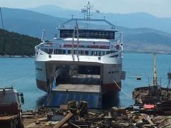 Protoporos V, docked In Amaliapolis, 24 6 2012