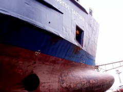 express santorini 110405 On perama drydock Bow Thruster