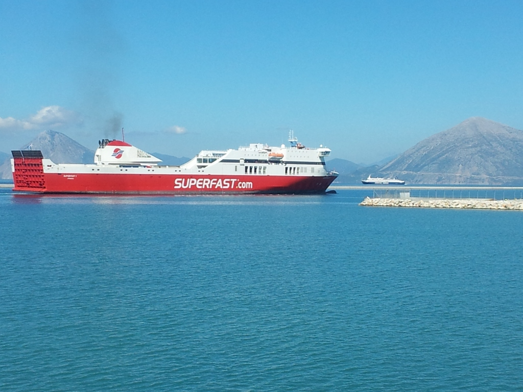 Superfast I incoming, Eptanisos outgoing, 22 09 2012