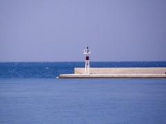 patra south port breakwater Red beacon 100911
