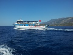 Kahramanlar 4 sailing from Kas, TK, 6 8 2012