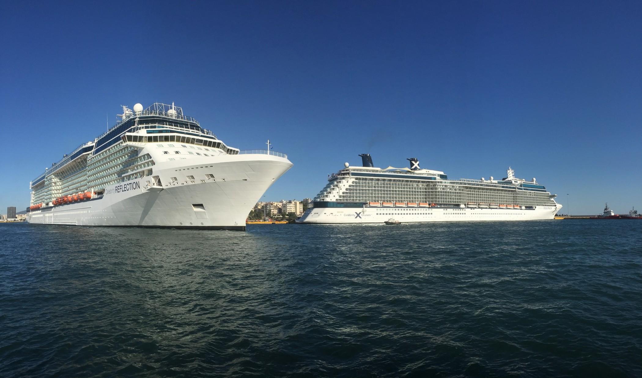 Celebrity Reflection & Celebrity Equinox  together at Piraeus,Greece