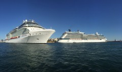 Celebrity Reflection & Celebrity Equinox  together at Piraeus,Greece
