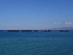 barges @patras south port breakwater 041012