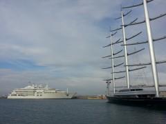 Maltese Falcon & Al Salamah @ Flisvos Marina, 6 10 2013