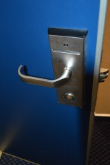 Cabin Door with both key/card system