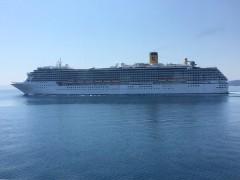 Costa Mediteρranea Off Corfu 13042015