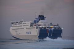 TERAJET departing Piraeus Port