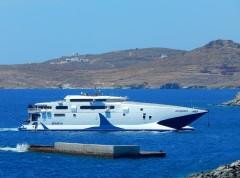 Mega Jet at Tinos