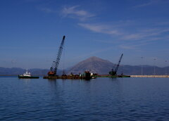 patras port construction works 031112