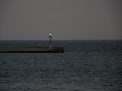 patras south port breakwater green light