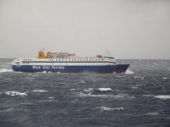 Diagoras @rough sea off kythnos 131207 c