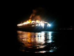 Diagoras late departure from Tilos 10 8 2013