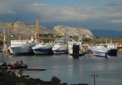 Ships in Salamina