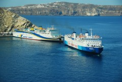Traffic at Athinios port