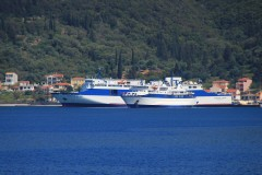 Ionis and Ionian Star, rare meeting at Sami port. 30 4 2013.