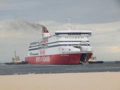 Spirit of Tasmania II after breaking moorings