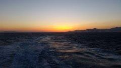 Sunset behind Mykonos