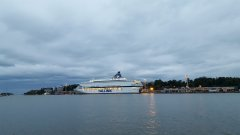 Silja Europa berthed inHelsinki 20160706