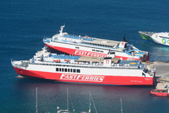 Fast Ferries Andros and Theologos P, 1st May 2016 in Mykonos