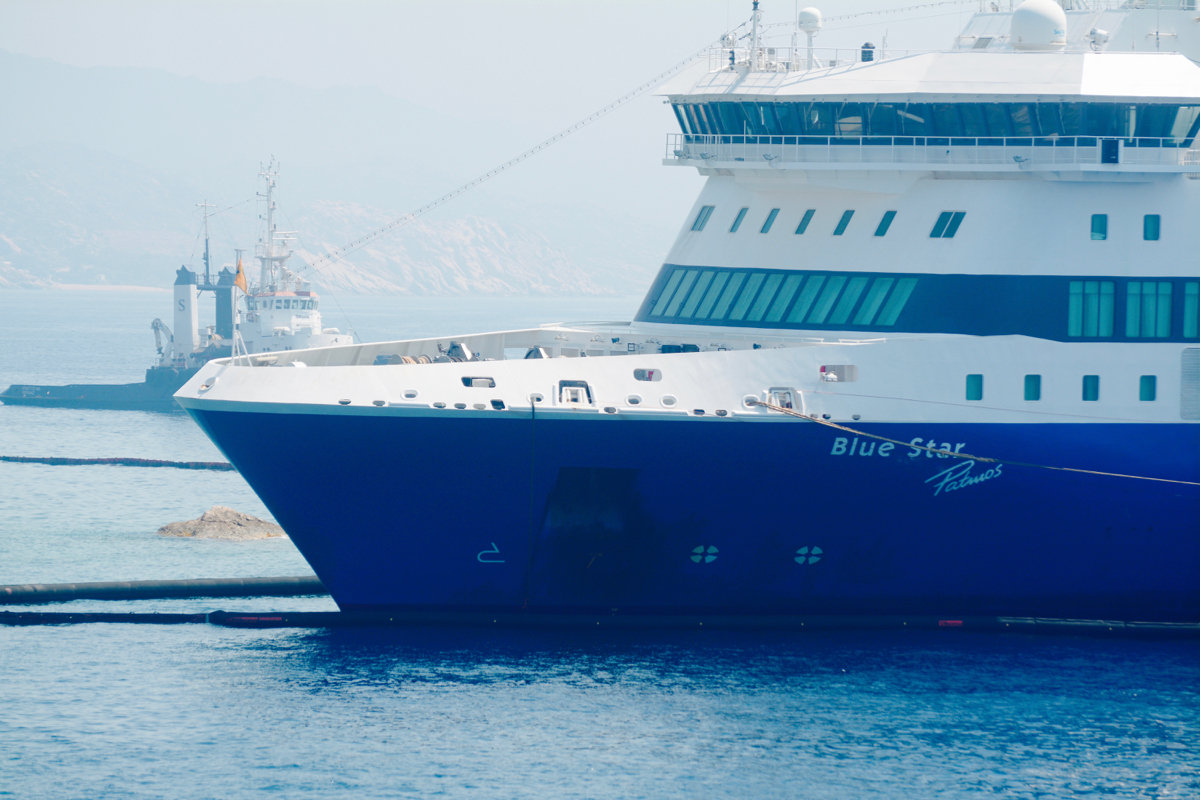 blue star patmos grounded at ios d