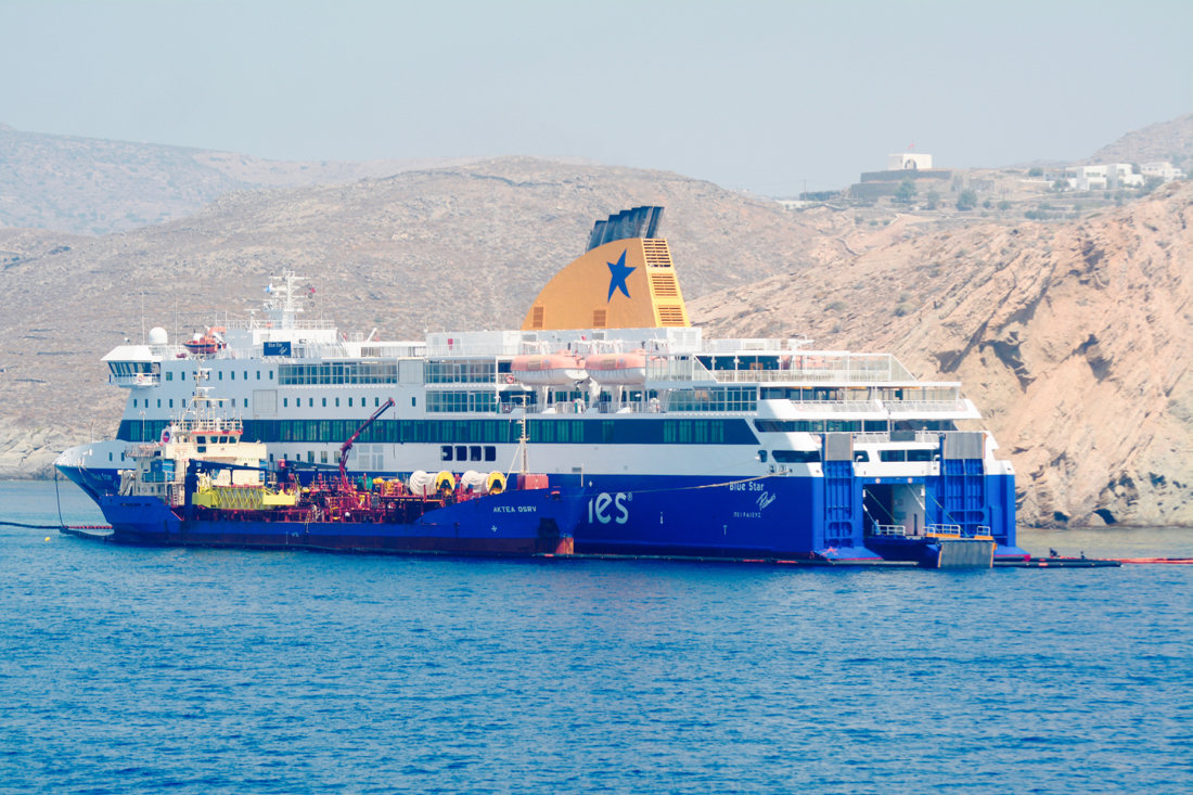 blue star patmos grounded at ios f